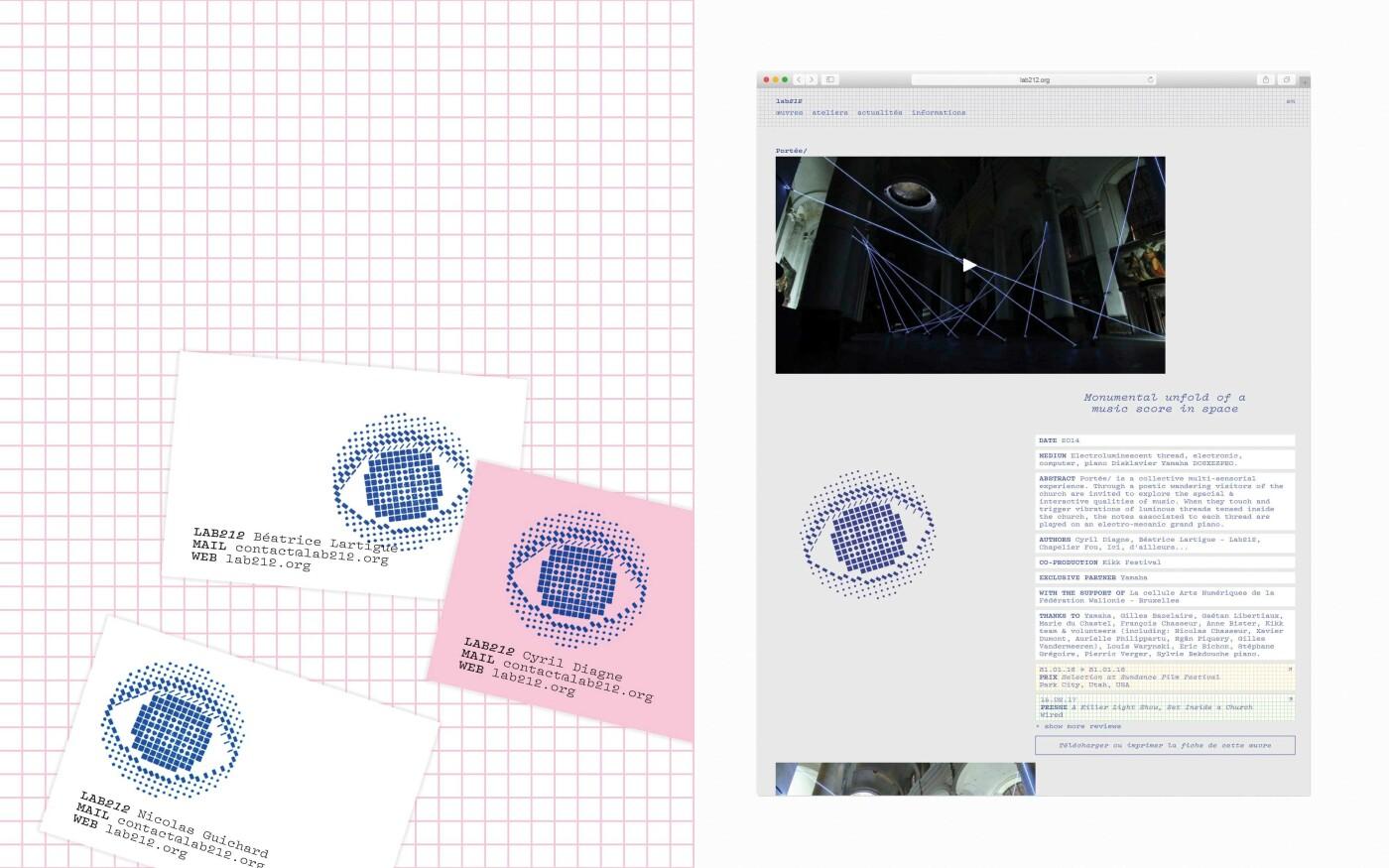 Langage visuel pour le collectif Lab212