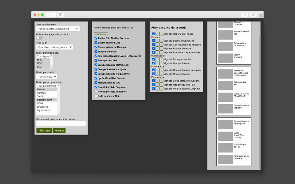 Système d'édition automatisée pour Execo