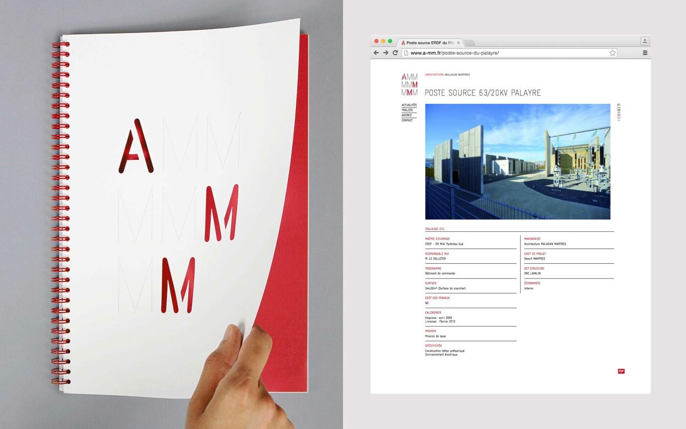 Langage visuel pour l'agence d'architecture AMM
