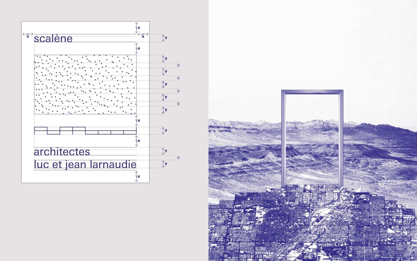 Langage visuel pour Scalène architectes