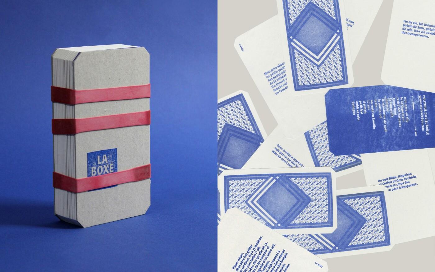 Conception graphique du livre-objet « La Boxe »