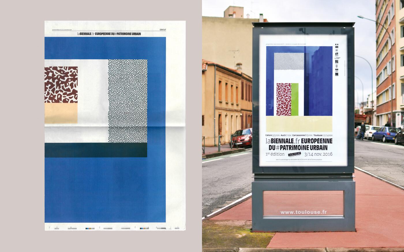 Conception graphique de la Biennale Européenne du Patrimoine Urbain