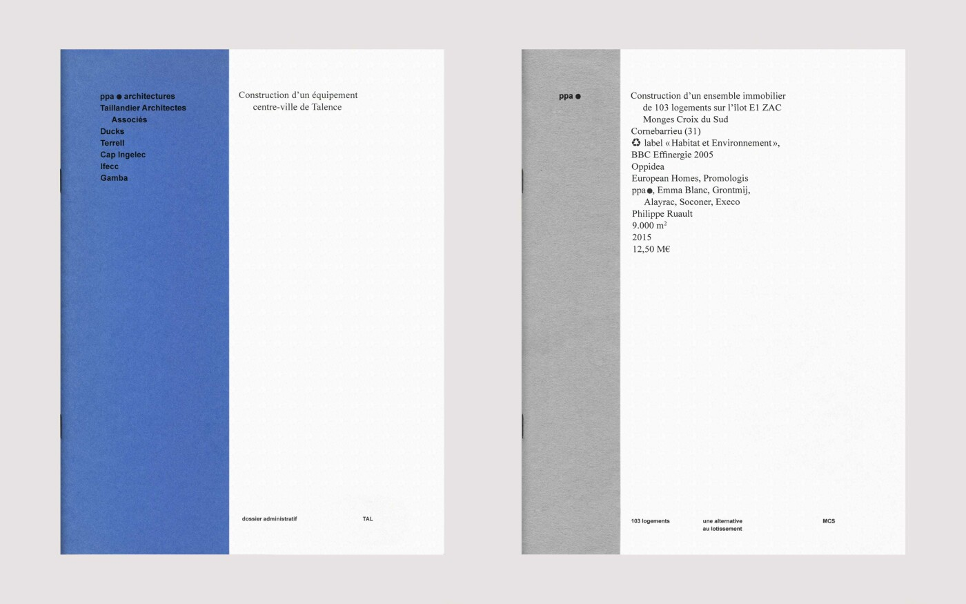 Langage visuel pour PPA architectures