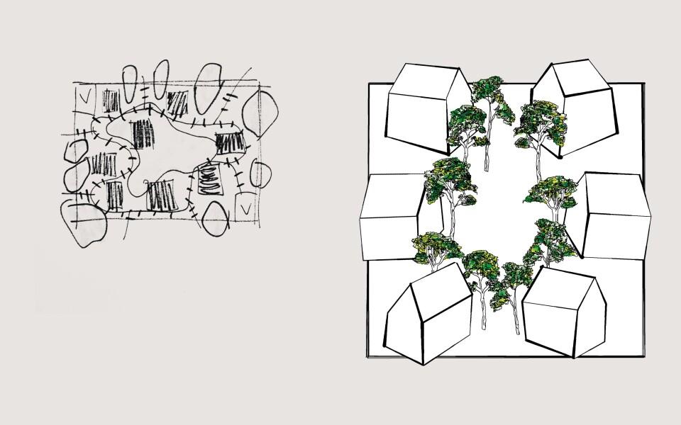 Illustration de£l'habitat intermédiaire