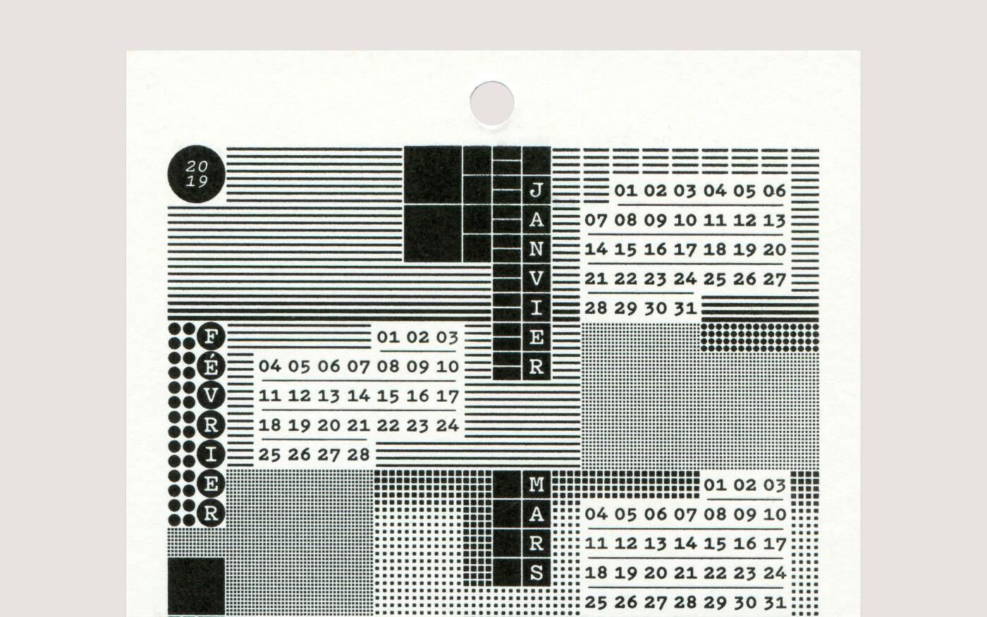 Conception graphique d'un calendrier