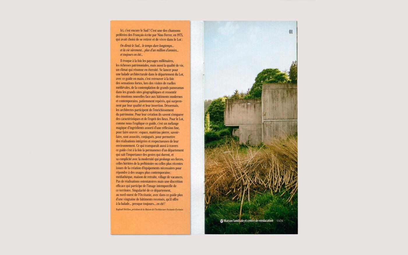 Mise en livre d'un guide de balades d'architecture dans le Lot