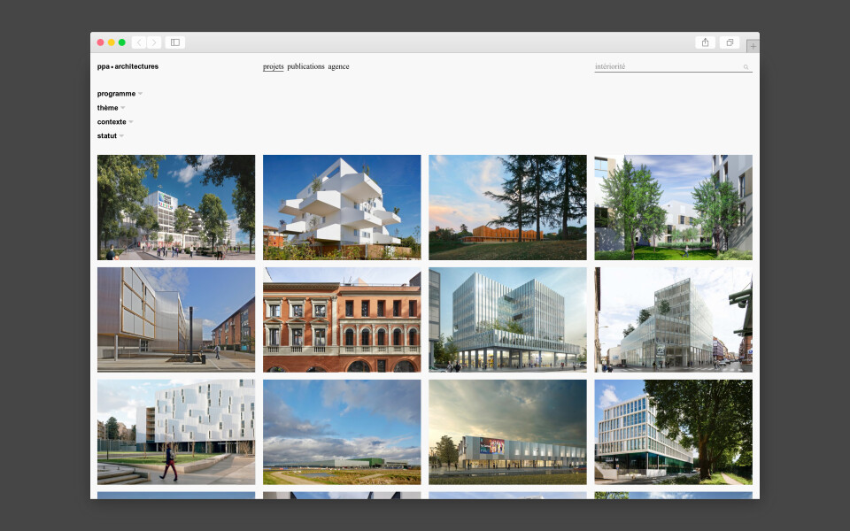 Site internet de ppa • Architectures