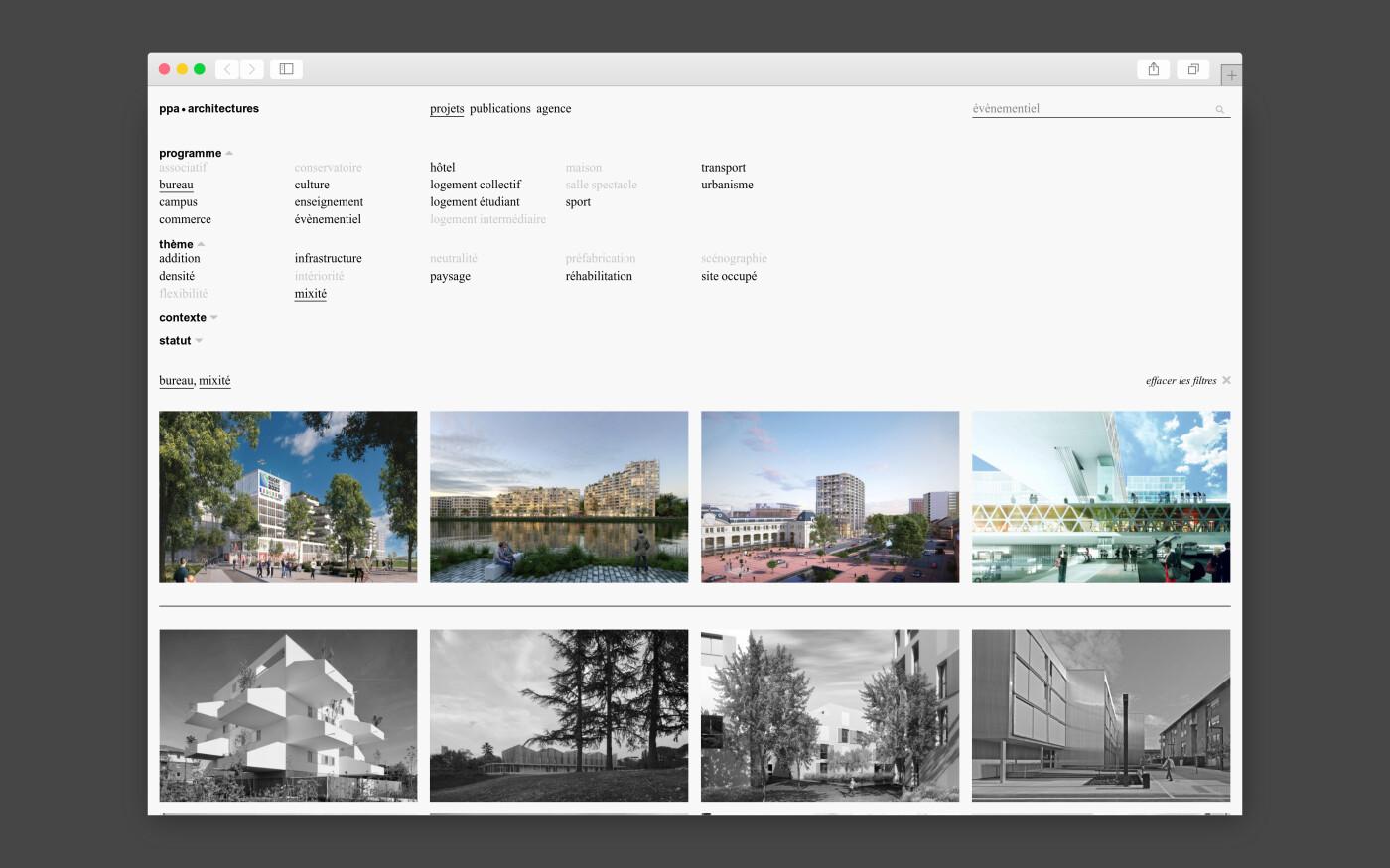 Site internet de ppa • Architectures