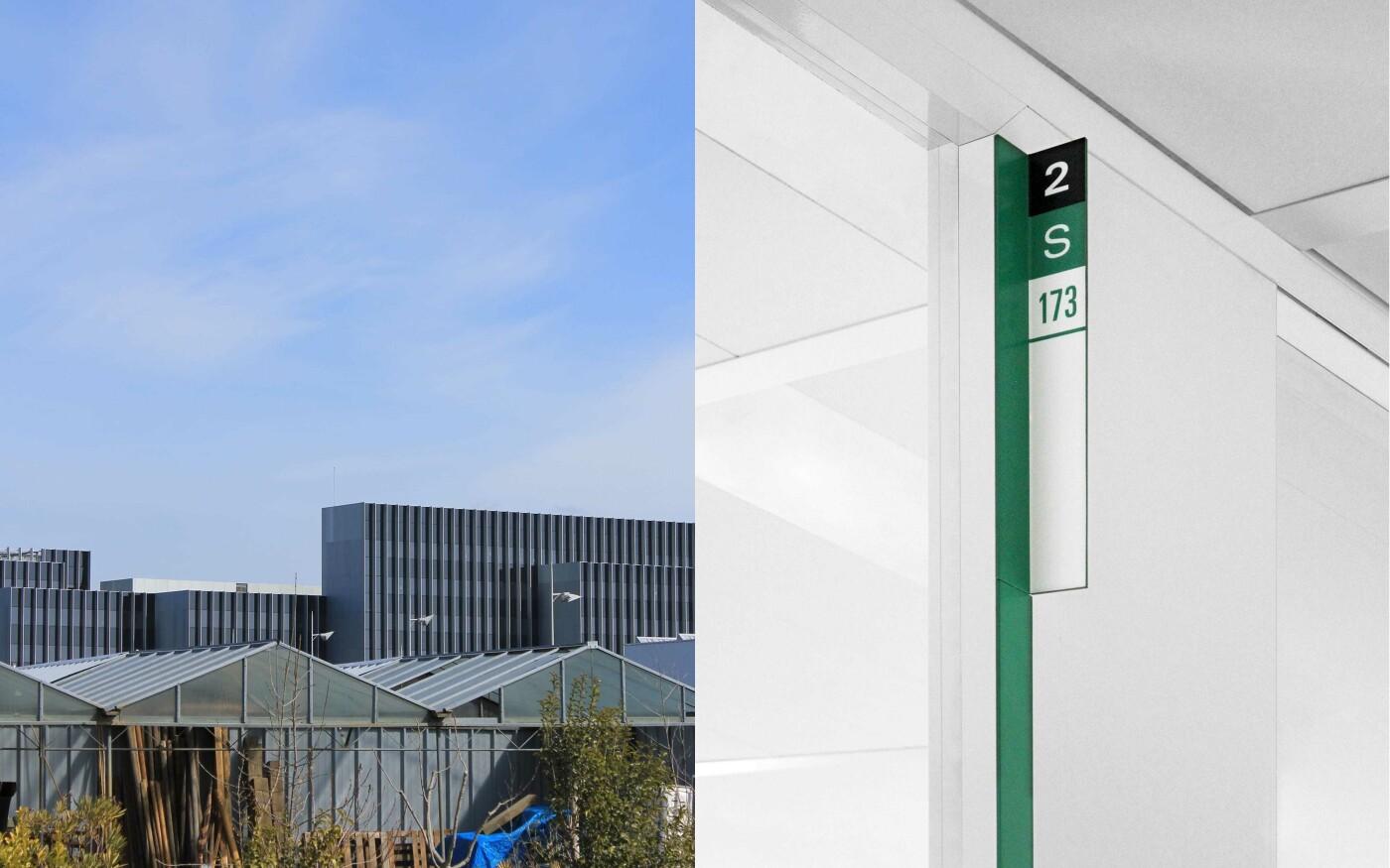 Signalétique d'un immeuble de bureaux