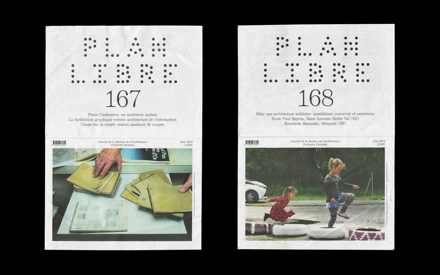 Mise en page du journal de l'architecture Plan Libre