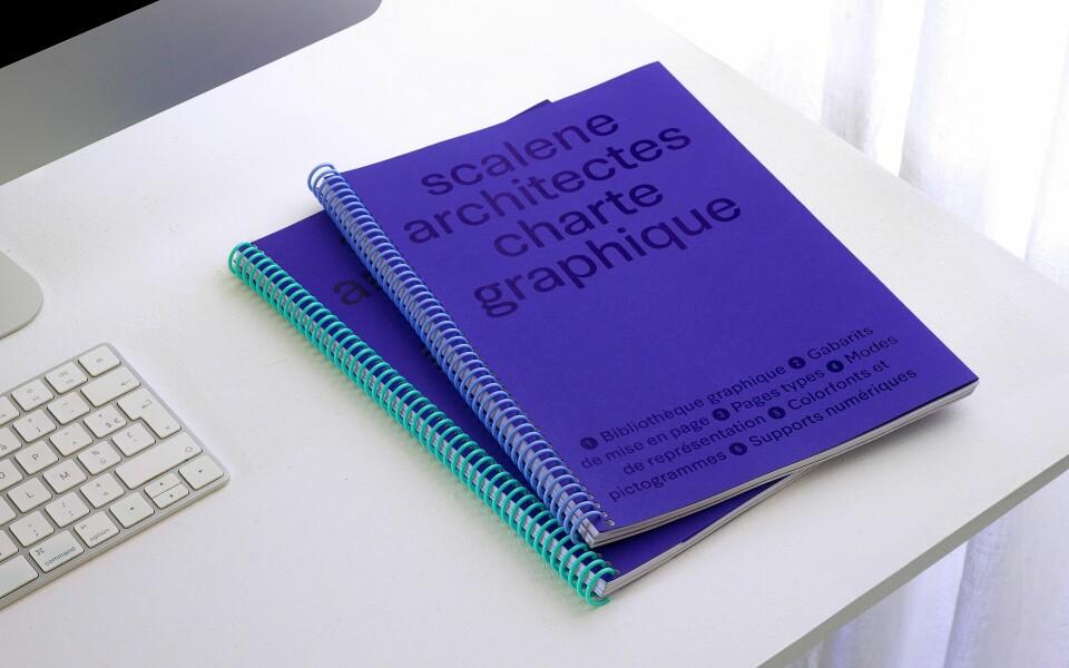 Charte graphique de Scalene architectes